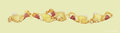 Easter Bunny Photograph - Sleeping Bunnies by Anne Geddes