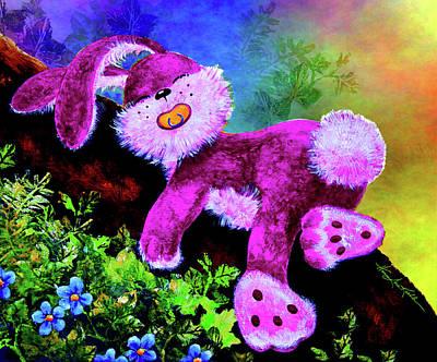Sleeping Bunny Art Print by Hanne Lore Koehler
