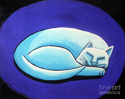 Painting - Sleeping Cat by Genevieve Esson