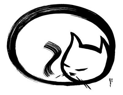Sleeping Cat Art Print by Poul Costinsky