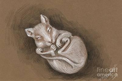 Painting - Sleeping Cutie by Margaryta Yermolayeva
