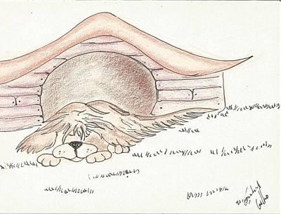 Sleeping Dog Original by Gabriel Coelho