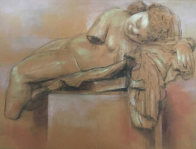 Drawing - Sleeping Eros by Paez ANTONIO