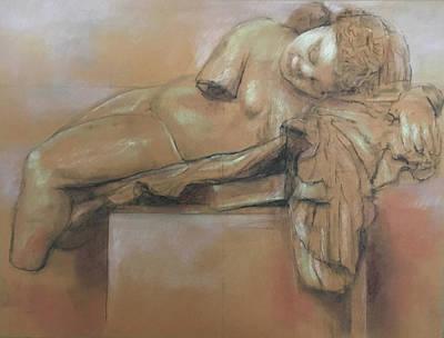 Drawing - Sleeping Eros by Paez ANTONIO
