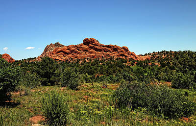 Photograph - Sleeping Giant At The Garden Of The Gods by Judy Vincent