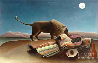 Sleeping Gypsy 1897 Art Print