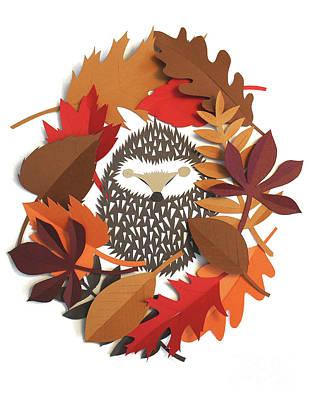 Mixed Media - Sleeping Hedgehog by Isobel Barber
