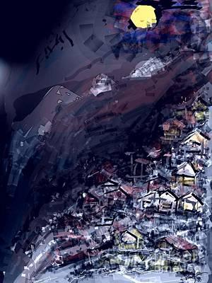 Digital Art - Sleeping Hill  by Subrata Bose