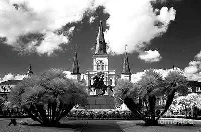 Photograph - Sleeping In Jackson Square Infrared by John Rizzuto