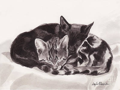 Layla Painting - Sleeping Kittens by Layla Alexander