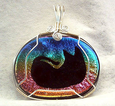Wire Wrap Jewelry Jewelry - Sleeping Kitty by Linda Ray