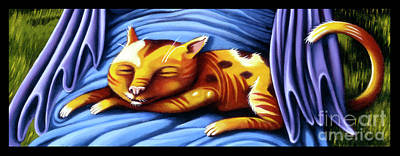 Painting - Sleeping Kitty by Valerie White