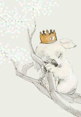 Koala Mixed Media - Sleeping Koala Princess by Blackwater Studio