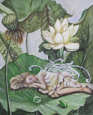 Painting - Sleeping Lotus Fairy by Kim Selig