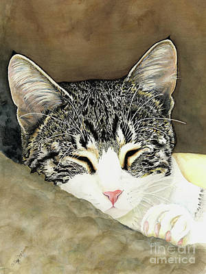 Painting - Sleeping Mia by Shari Nees