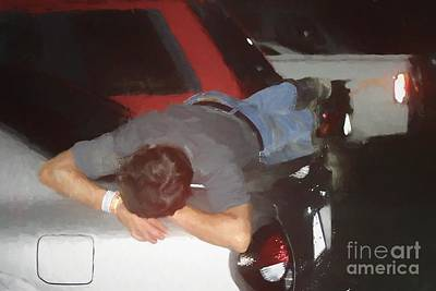Painting - Sleeping On A Car Painting by Concert Photos