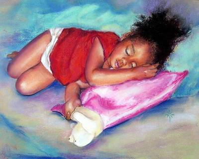 Painting - Sleeping On A Cloud by Jodie Marie Anne Richardson Traugott          aka jm-ART