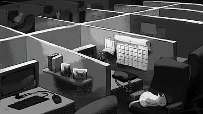 Digital Art - Sleeping On The Job by Ellan Suder