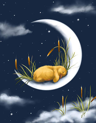 Painting - Sleeping On The Moon by Veronica Minozzi