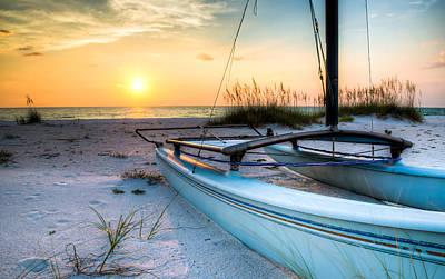 Sunset Digital Art - Sleeping Sailboat by Clay Townsend
