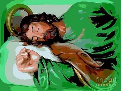 Digital Art - Sleeping Saint by Ed Weidman