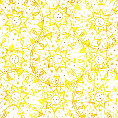 Drawing - Sleeping sun by Signe  Beatrice