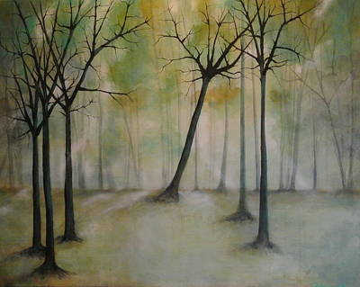 Painting - Sleeping Trees by Tamara Bettencourt