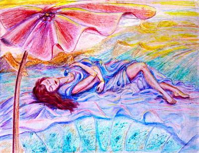 Sleeping Under Umbrella Original