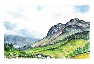 Art Print featuring the painting Sleeping Valley by Heidi Kriel
