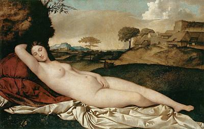 Goddess Mythology Painting - Sleeping Venus by Giorgione