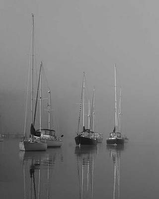 Sleeping Yachts  Art Print by Arthur Sa