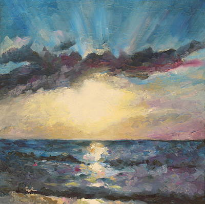 Sleepy Blue Ocean Original by Eve  Wheeler