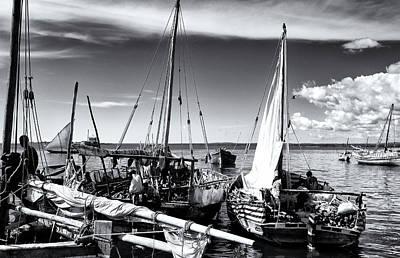 Photograph - Sleepy Dhow Boats Zanzibar by Amyn Nasser