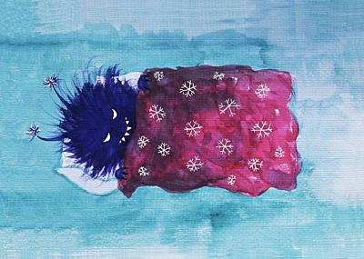 Digital Art - Sleepy Evil Bug Loves To Relax by Boriana Giormova