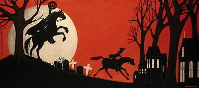 Sleepy Hollow - Artist Folkartmama Art Print by Debbie Criswell