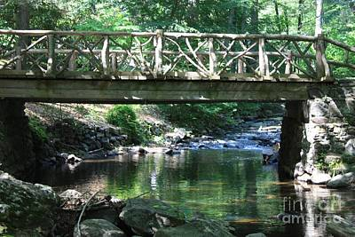 Photograph - Sleepy Hollow Bridge And Stream by John Telfer