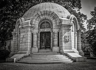 Mausoleum Digital Art - Sleepy Hollow Cemetery - Archbold by Black Brook Photography