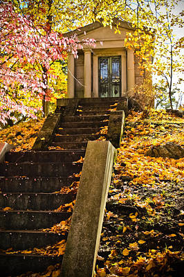 Photograph - Sleepy Hollow Cemetery Mausoleum by Colleen Kammerer