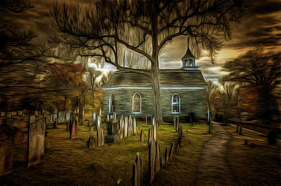 Photograph - Sleepy Hollow Church Art by David Pyatt
