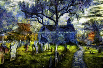 Photograph - Sleepy Hollow Church Van Gogh by David Pyatt