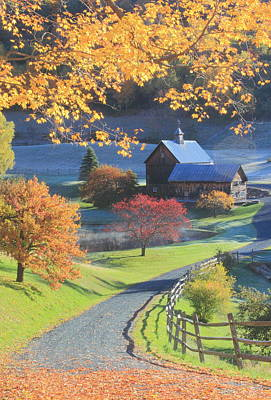 Photograph - Sleepy Hollow Farm Autumn Morning by John Burk