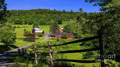 Photograph - Sleepy Hollow Farm. by Scenic Vermont Photography