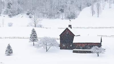 Photograph - Sleepy Hollow Farm Snowstorm 2 by Alan L Graham