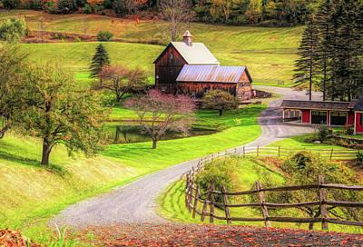Photograph - Sleepy Hollow Farm Vermont by Dan Sproul