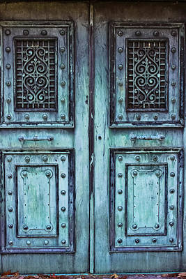 Photograph - Sleepy Hollow Mausoleum Doors by Colleen Kammerer