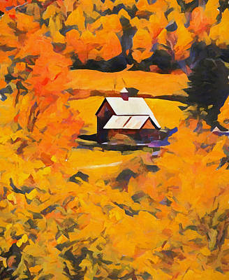 Painting - Sleepy Hollow October Orange by Dan Sproul