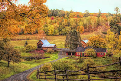Photograph - Sleepy Hollow - Pomfret Vermont In Autumn by Jeff Folger