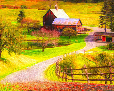 Painting - Sleepy Hollow Vermont by Dan Sproul