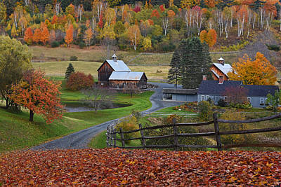 Photograph - Sleepy Hollows Farm Woodstock Vermont Vt Autumn by Toby McGuire