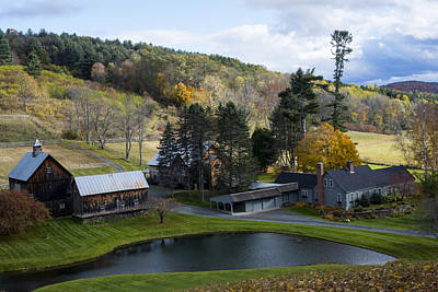 Photograph - Sleepy Hollows Farm Woodstock Vermont Vt Pond by Toby McGuire
